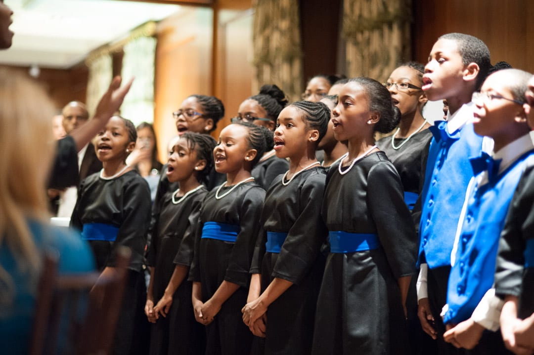 Voices of Trey, the Trey Whitfield School choir, performed several songs.